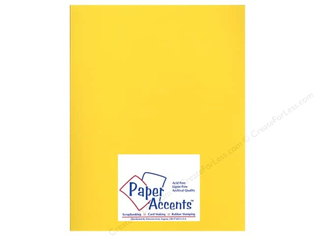 Cardstock 8 1/2 x 11 in. Heavyweight Smooth Lemon Sorbet by Paper Accents (25 sheets)