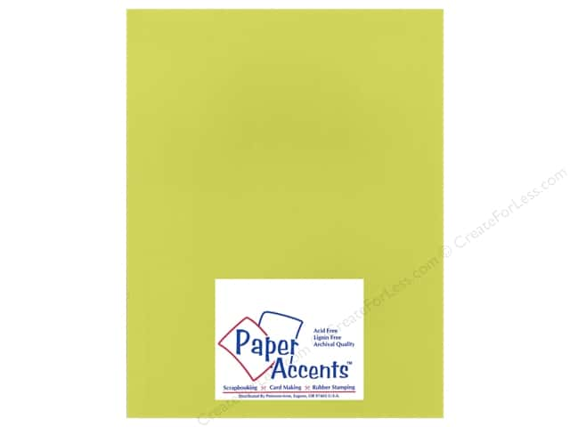 Cardstock 8 1/2 x 11 in. Heavyweight Smooth Lemon Lime by Paper Accents (25 sheets)