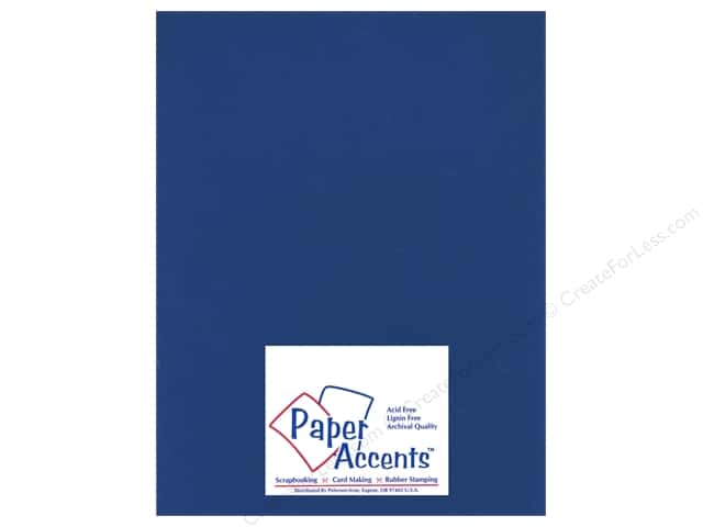 Cardstock 8 1/2 x 11 in. Heavyweight Smooth Deep Blue by Paper Accents (25 sheets)