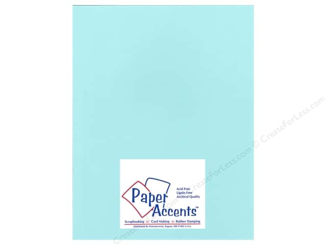 Paper Accents Cardstock 8 1/2 x 11 in. #17701 Heavyweight Smooth Pale Aqua (25 sheets)
