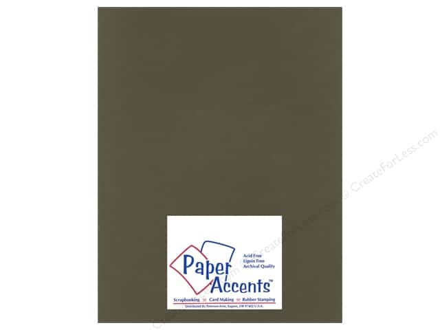 Cardstock 8 1/2 x 11 in. Heavyweight Smooth Dark Molasses by Paper Accents (25 sheets)