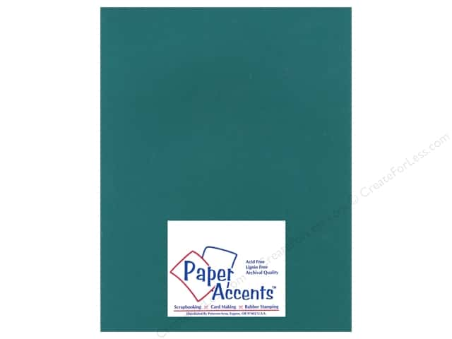 Cardstock 8 1/2 x 11 in. Heavyweight Smooth Hunter Green by Paper Accents (25 sheets)