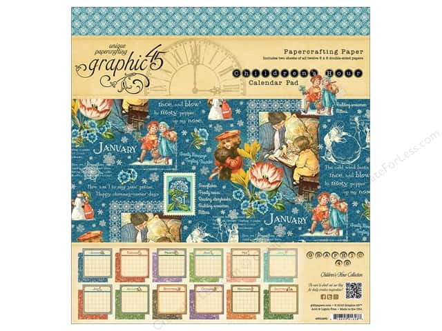 Graphic 45 8 x 8 in. Calendar Pad Children's Hour