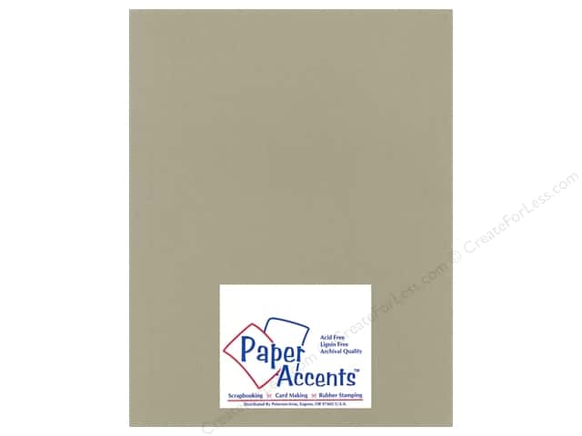 Cardstock 8 1/2 x 11 in. Heavyweight Smooth Putty by Paper Accents (25 sheets)