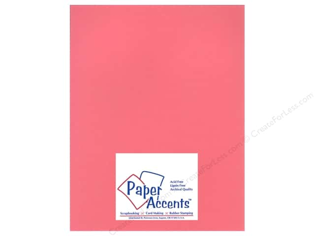 Paper Accents Cardstock 8 1/2 x 11 in. #11102 Heavyweight Smooth Rose Chintz (25 sheets)