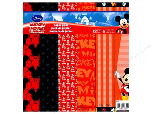 SandyLion 12 x 12 in. Paper Pack Disney Mickey