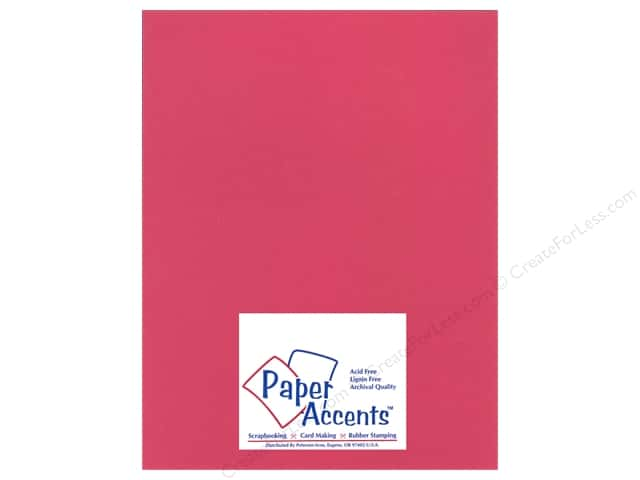 Cardstock 8 1/2 x 11 in. Heavyweight Smooth Watermelon Pink by Paper Accents (25 sheets)