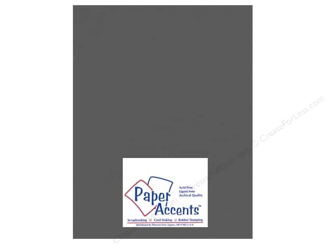 Cardstock 8 1/2 x 11 in. Heavyweight Smooth Battlship Gray by Paper Accents (25 sheets)