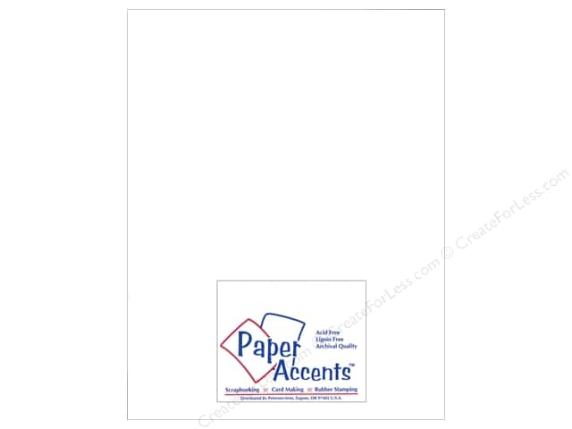 Cardstock 8 1/2 x 11 in. Heavyweight Smooth White Smoke by Paper Accents (25 sheets)