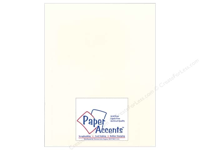 Cardstock 8 1/2 x 11 in. Heavyweight Smooth Whitewash by Paper Accents (25 sheets)