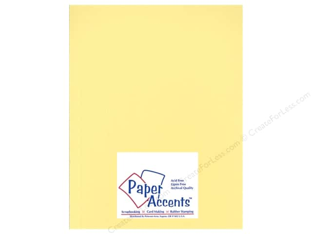 Cardstock 8 1/2 x 11 in. Heavyweight Smooth Wildflower Honey by Paper Accents (25 sheets)