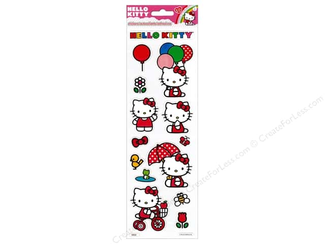 SandyLion Sticker Hello Kitty Embossed