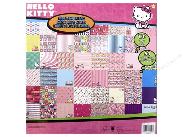 SandyLion 12 x 12 in. Paper Pad Hello Kitty Mega