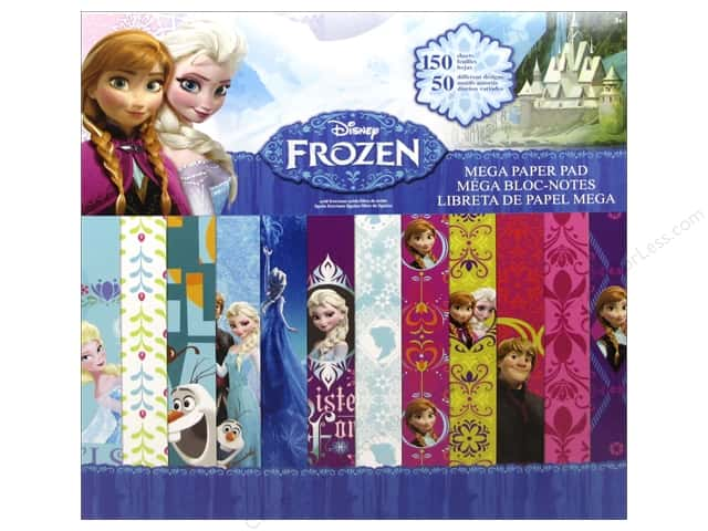 SandyLion 12 x 12 in. Paper Pad Disney Frozen Mega
