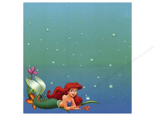 SandyLion 12 x 12 in. Paper Disney Princess Mermaid (25 sheets)