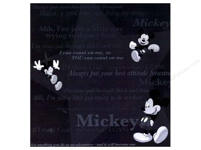 SandyLion 12 x 12 in. Paper Disney Mickey Tonal (25 sheets)