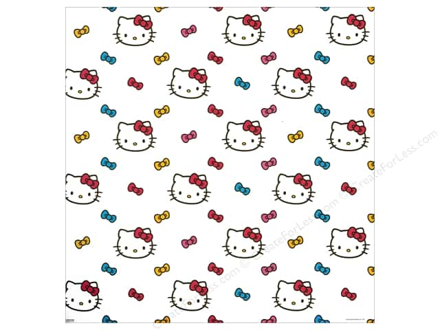 SandyLion 12 x 12 in. Paper Hello Kitty Ribbons (25 sheets)