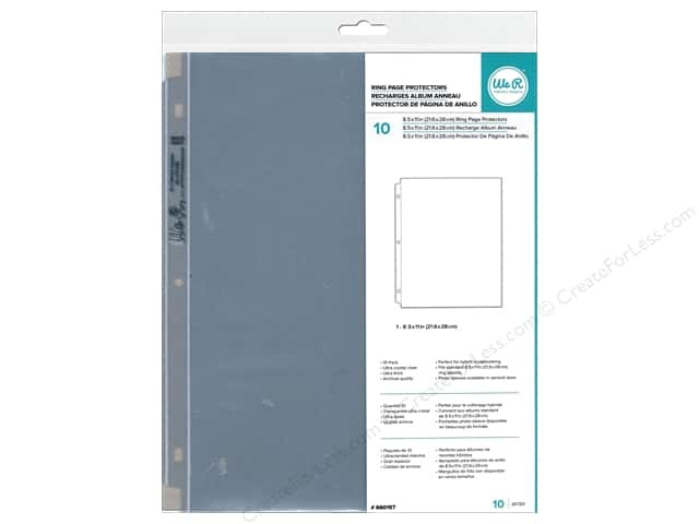 "We R Memory Page Protectors Post 12""x 12"" 6""x 4"" 10pc"