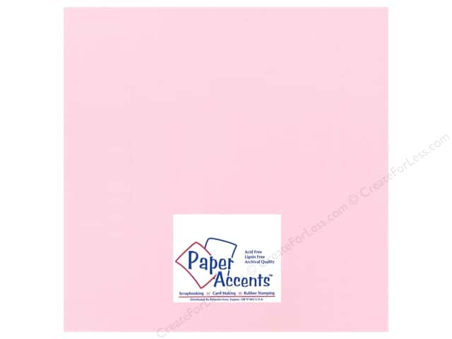 Cardstock 12 x 12 in. Heavyweight Smooth Ballerina Pink by Paper Accents (25 sheets)