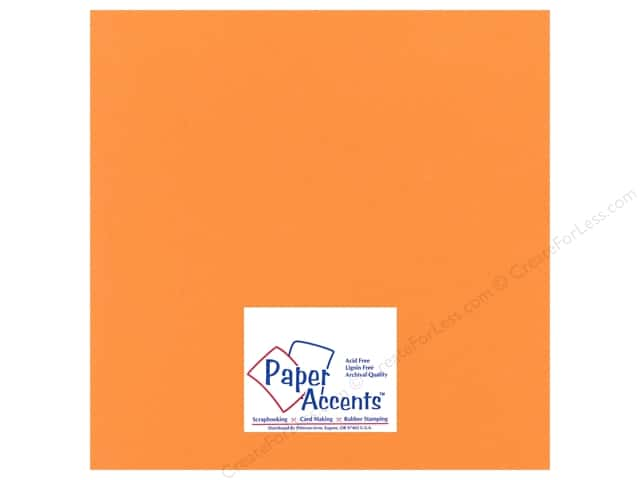 Cardstock 12 x 12 in. Heavyweight Smooth Candied Yam by Paper Accents (25 sheets)