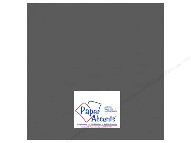 "Paper Accents Cardstock 12""x 12"" Heavyweight Smooth 100# Battleship Gray (25 sheets)"