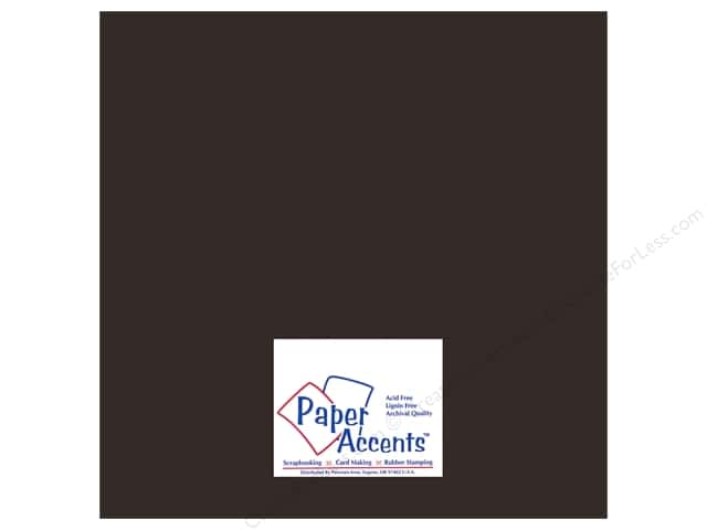 Cardstock 12 x 12 in. Heavyweight Smooth Black Suede by Paper Accents (25 sheets)