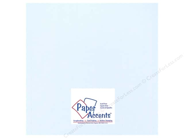 Cardstock 12 x 12 in. Heavyweight Smooth Blue Mist by Paper Accents (25 sheets)