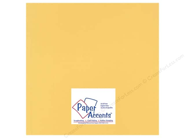 Cardstock 12 x 12 in. Heavyweight Smooth Antique Gold by Paper Accents (25 sheets)