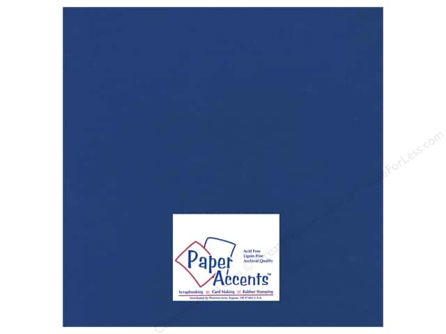 Paper Accents  Cardstock 12 x 12 in. #17707 Heavyweight Smooth Deep Blue (25 sheets)