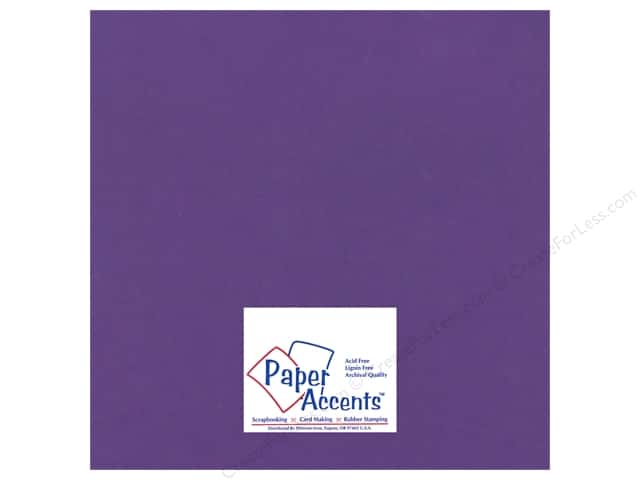 Paper Accents Cardstock 12 x 12 in. #16602 Heavyweight Smooth Cyber Grape (25 sheets)