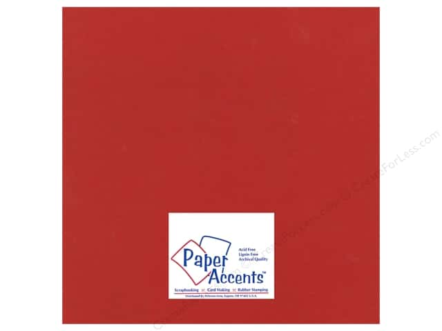Cardstock 12 x 12 in. Heavyweight Smooth Classic Cherry by Paper Accents (25 sheets)