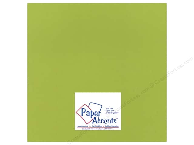 Paper Accents Cardstock 12 x 12 in. #15502 Heavyweight Smooth Crisp Green (25 sheets)