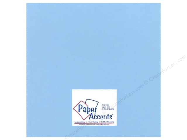 Cardstock 12 x 12 in. Heavyweight Smooth Moonstone Blue by Paper Accents (25 sheets)