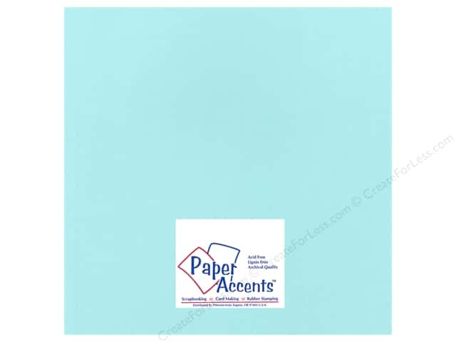 Paper Accents Cardstock 12 x 12 in. #17701 Heavyweight Smooth Pale Aqua (25 sheets)