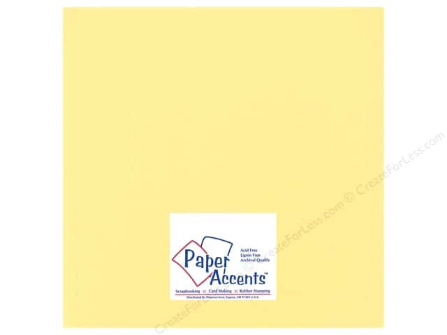 Cardstock 12 x 12 in. Heavyweight Smooth Wildflower Honey by Paper Accents (25 sheets)