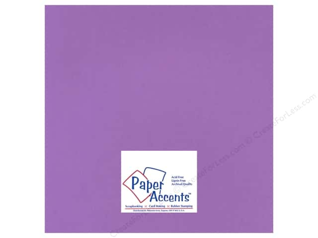 Paper Accents Cardstock 12 x 12 in. #16601 Heavyweight Smooth Purple Hearts (25 sheets)