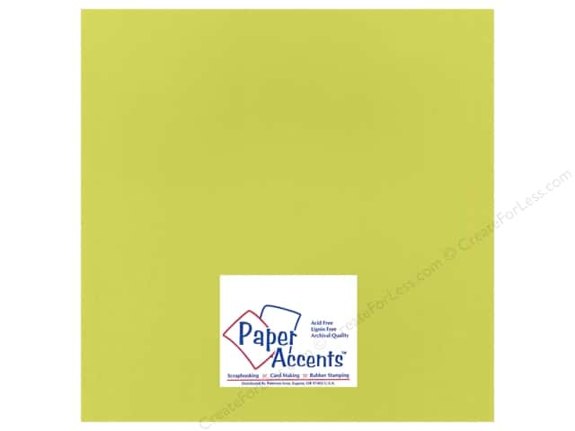 Paper Accents Cardstock 12 x 12 in. #15501 Heavyweight Smooth Lemon Lime (25 sheets)