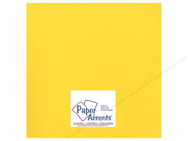 Cardstock 12 x 12 in. Heavyweight Smooth Lemon Sorbet by Paper Accents (25 sheets)