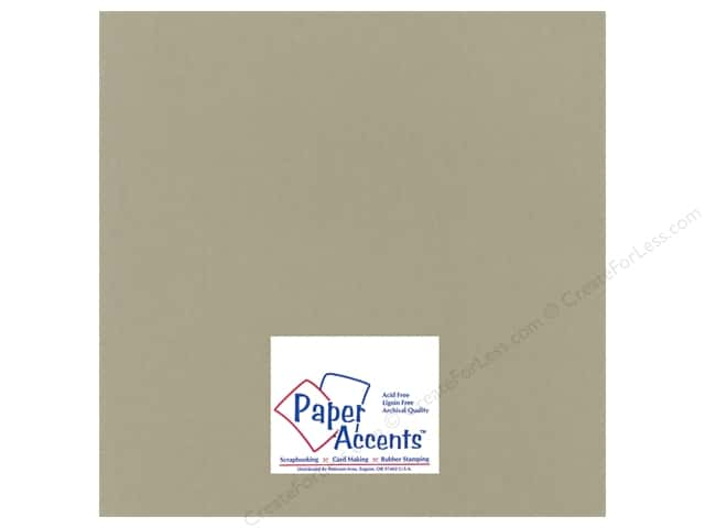 Paper Accents Cardstock 12 x 12 in. #18802 Heavyweight Smooth Putty (25 sheets)