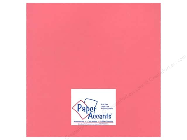 Cardstock 12 x 12 in. Heavyweight Smooth Rose Chintz by Paper Accents (25 sheets)