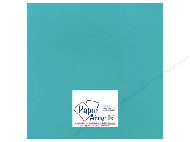 Cardstock 12 x 12 in. Heavyweight Smooth Tropical Sea by Paper Accents (25 sheets)