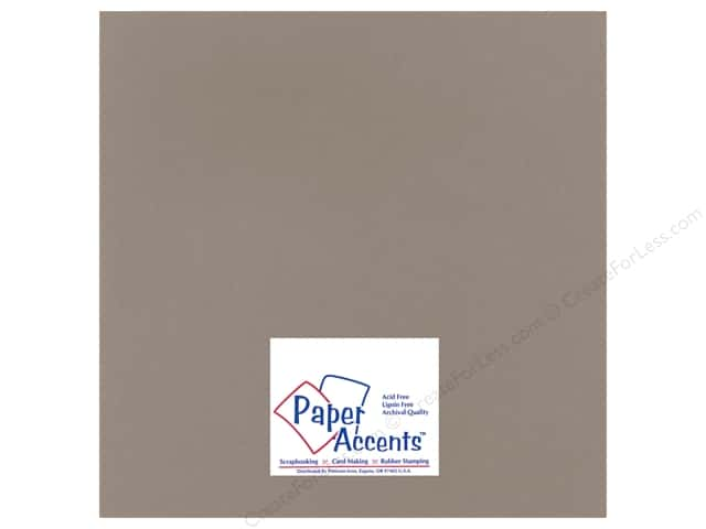 Paper Accents Cardstock 12 x 12 in. #1101001 Heavyweight Smooth Slate (25 sheets)