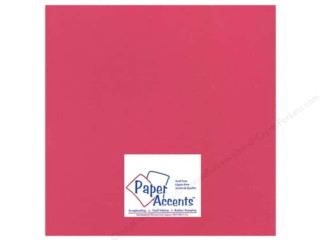 Cardstock 12 x 12 in. Heavyweight Smooth Watermelon Pink by Paper Accents (25 sheets)