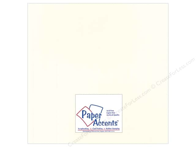 Cardstock 12 x 12 in. Heavyweight Smooth Whitewash by Paper Accents (25 sheets)