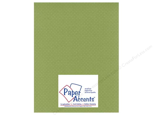 Paper Accents Cardstock 8 1/2 x 11 in. #35511 Mini Dot Beach Grass (25 sheets)