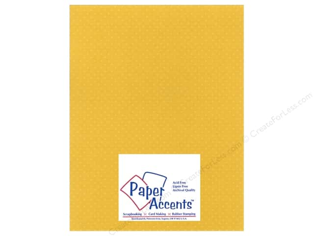 Paper Accents Cardstock 8 1/2 x 11 in. #34407 Mini Dot Daffodil (25 sheets)