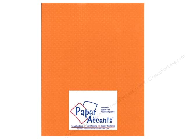 Paper Accents Cardstock 8 1/2 x 11 in. #33305 Mini Dot California Poppy