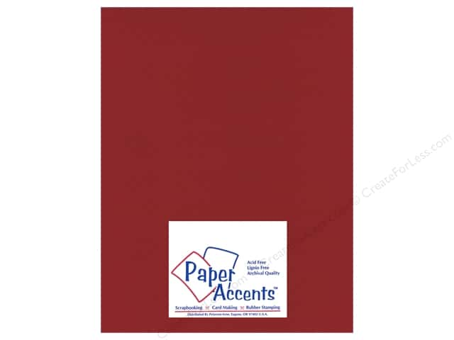 Cardstock 8 1/2 x 11 in. Mini Dot Crimson Beauty by Paper Accents (25 sheets)