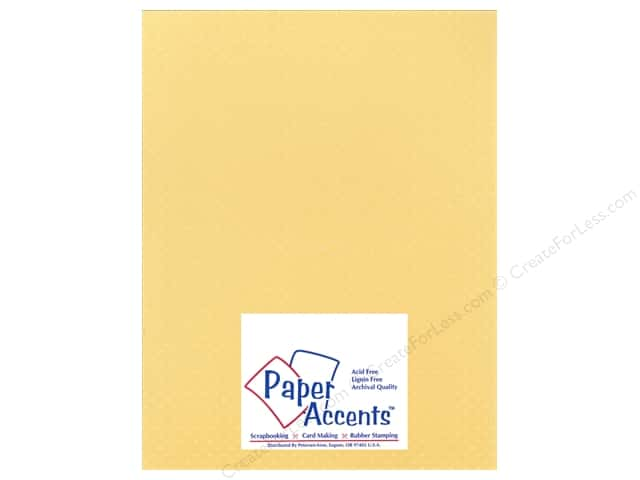 Cardstock 8 1/2 x 11 in. Mini Dot Jonquil by Paper Accents (25 sheets)
