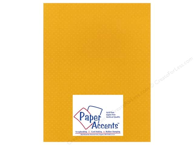 Paper Accents Cardstock 8 1/2 x 11 in. #34408 Mini Dot Gold Zinnia